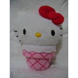 Hello Kitty Sanrio Barquillo De Helado Peluche Original