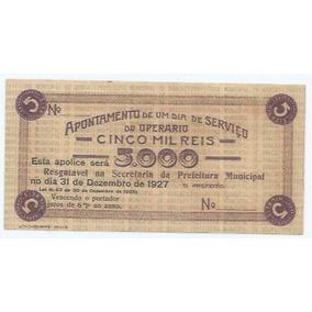Apólice Da Prefeitura De Aracaty. Ceará. Ano 1927.