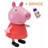 Boneca Peppa Pig Grande 35cm Vinil Igualzinha Ao Desenho