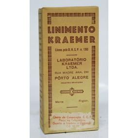 Vidro Farmácia Antigo - Linimento Kraemer C/embalagem