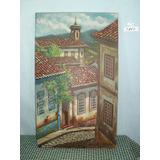 Quadro Ouro Preto Pintura Óleo Sobre Tela 50x30 - Ref. 3867