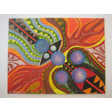 Quadro Pintura A Óleo Abstrato Pintor M. Scheier 28 X 35,5cm