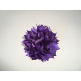 Flor Rosa Broche Em Tecido Para Lenço Echarpe Roupa Blusa P