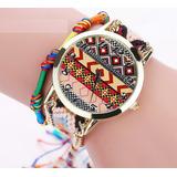Reloj / Pulsera Para Dama Varios Colores En Trenza