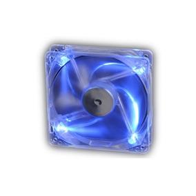 Cooler Fan Akasa Crystal C/ 4 Led´s - Azul 12x12 Cm
