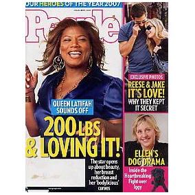 Revista People: Queen Latifah / John Mayer /mariska Hargitay