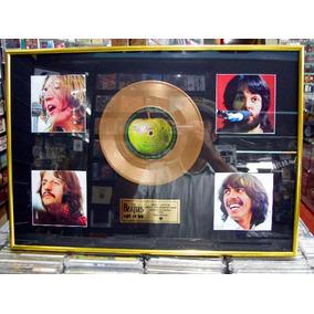 Beatles Let It Be Disco Ouro Pintura Lindo Quadro Artesanal