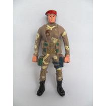 Boneco Antigo Soldado Fardado , Em Plástico Rígido