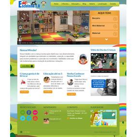 Site Para Escolas, Creches, Berçários, Pré Escola Etc. V.1.0