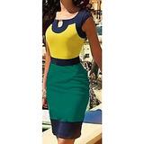 Maravilhoso Vestido Importado Com Recortes - Cores Do Brasil