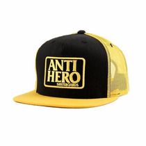 Boné Anti Hero Reserve Trucker Amarelo Preto