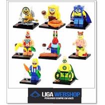 Liga- Set 08 Minifiguras Bob Esponja Similar Ao Lego