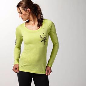 Camiseta Reebok Crossfit Graphic Long Sleeve Tri Gr