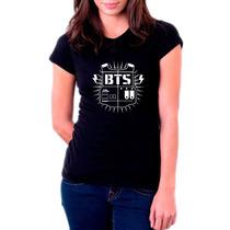 Camiseta, Babylook Kpop Bangtan Boys Bts Letters K-pop