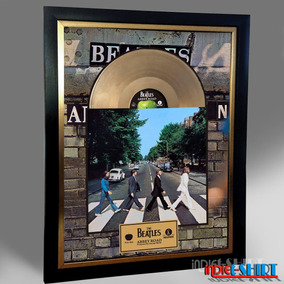 Cuadro Decorativo The Beatles Tipo Disco Oro Abbey Road Lp