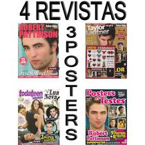 Kit Robert Pattinson Revistas Posters + Adesivos Crepusculo