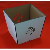 Cachepô Em Mdf Branco - Corte A Laser (ref. 001)