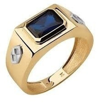 Anel Formatura Masculino Em Ouro 18k 750 Anw70