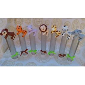 Souvenir Animalitos De La Selva En Porcelana Fria X10 U.