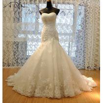 Vestido De Noiva Tomara Que Caia Sereia Trompete Calda Longa