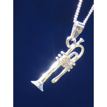 Dije Instrumentos Musicales Trompeta En Plata Ley.925