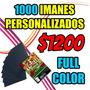 1000 Imanes Publicitarios Personalizados 9x5cm Super Precio