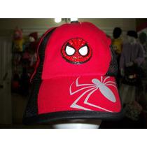 Gorra Ajustable Spiderman Hombre Araña Nueva Etiquetada Niño
