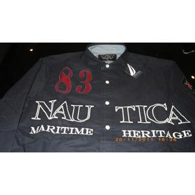 Camisa Nautica Azul Marinho Tam. M Brasil