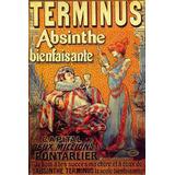 Absinto Bebida Terminus Frances Vintage Poster Repro Na Tela