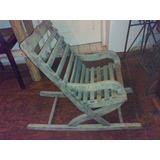 Cadeira De Balanço Antiga De Criança (only Wood)