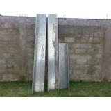 Canales Para Agua De Lluvia En Techo Cal.18 Acero Galvanizad