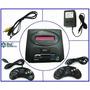 Sega 16 Bits +2 Joysticks+trafo+ Sonic Gtía 6 Meses Mirá