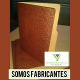 Carpeta Oficio Marron Fibra Sin Fuelle Y Sin Gancho