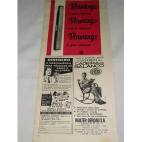 Propaganda Antiga Pente Flamengo E Cadeiras Gerdau De 1963