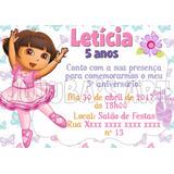 Arte Digital Convite Dora Aventureira Bailarina