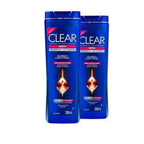 2 Shampoos Anticaspa Clear Queda Control 200ml