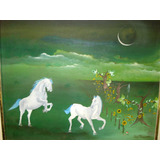 Luiz Nascimento - Ost Cavalos, Assinado - Louzada - 60x50cm.