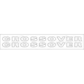 Adesivo Faixas Lateral Saveiro Crossover Prata Sc002