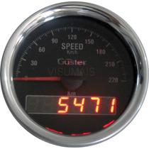 Velocimetro De Ponteiro Com Odometro Digital 85mm Guster