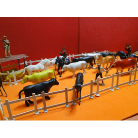 Kit Fazendinha Sitio Chacara Animal Cowboy Tamanho Gulliver
