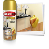Tinta Spray Colorgin Metallik Interior - Ouro