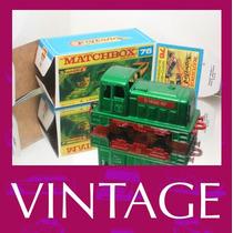 1976 Matchbox Lesney Locomotiva Trem + Custom Box Nas09