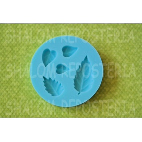 *molde D Silicon Hojas Varias Flor Pastel Cupcake Fondant*