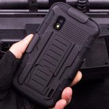 Capa Proteção Anti Impacto Clipe Cinto Lg Nexus 4 E960 + Pel