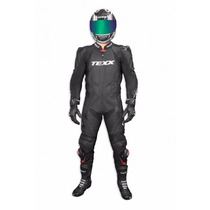 Macacao Couro Moto Texx Cronos Preto Racing Alpine Phanton
