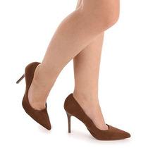 Sapato Scarpin Feminino Lara - Castanho