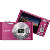 Camera Digital Sony Cyber Shot Rosa Dsc W730 Filma Hd Zoom
