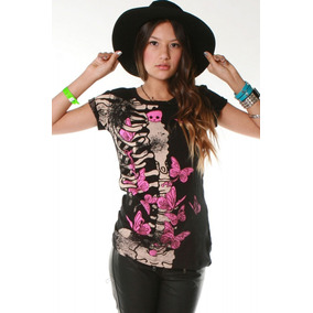Blusa T-shirt Ellie Skellie S/s Abbey Dawn Avril Lavigne