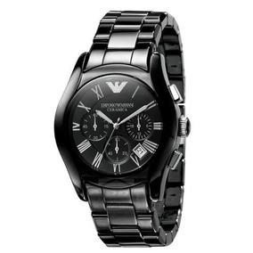 Relógio Emporio Armani Ar1400 Ceramica Preto Garantia 3 Anos