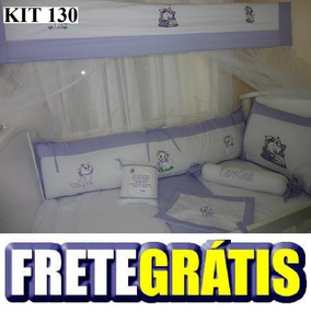 Kit Berço Personalizados 9 Pçs Gata Marie Lilas